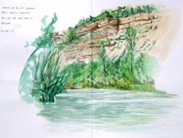 Rio Gallego. Huesca. Watercolor