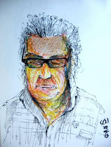 Retrato Gamboa. Ink & Oil
