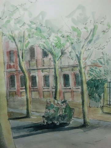 Biblioteca el Matadero. Watercolor