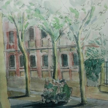Biblioteca el Matadero. Watercolor