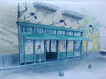 Montal. Zaragoza. Watercolor