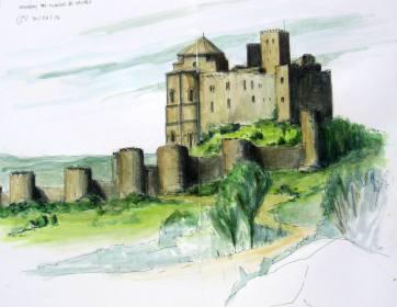 Loarre. Huesca. Watercolor