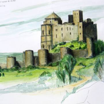 Loarre. Huesca. Watercolor