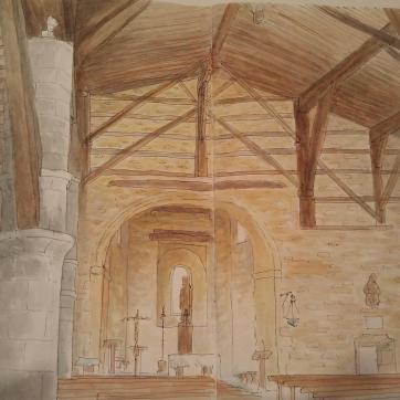 La Antigua. Zumárraga. Watercolor