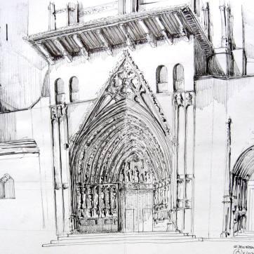 Catedra de Huesca. Ink