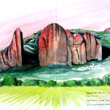 Mallos de Riglos. Watercolor