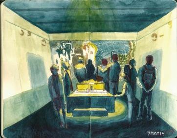 Museo Milan. Watercolor