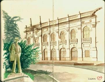 Politecnico. Milan. Watercolor