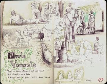 Parco. Milan. Bic & Watercolor