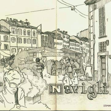 Navigli. Milan. Ink