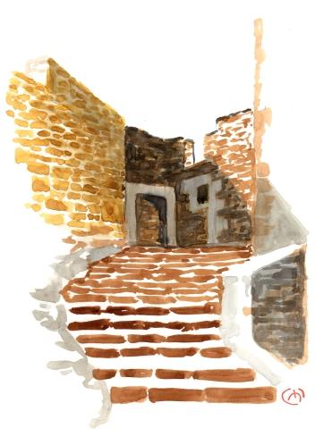 Gallipientzu. Watercolor