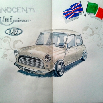 Inocente. Milan. Watercolor