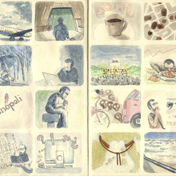 Comico Italia. Watercolor